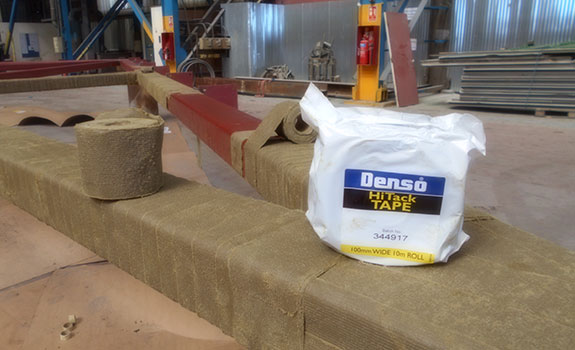 Denso Hi-Tack Tape™ applied to the roof trusses