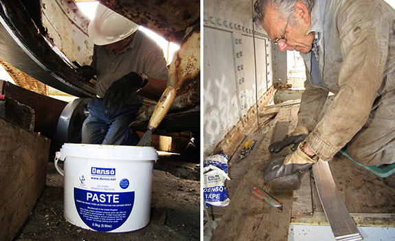 The application of Denso Paste™ and Denso™ Tape to the famous Brunel bridge.