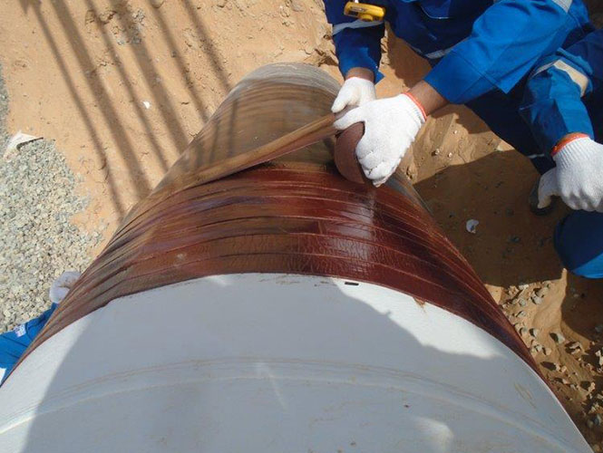 Denso Hotline Tape applied to Soil Air Interface Pipeline.jpg