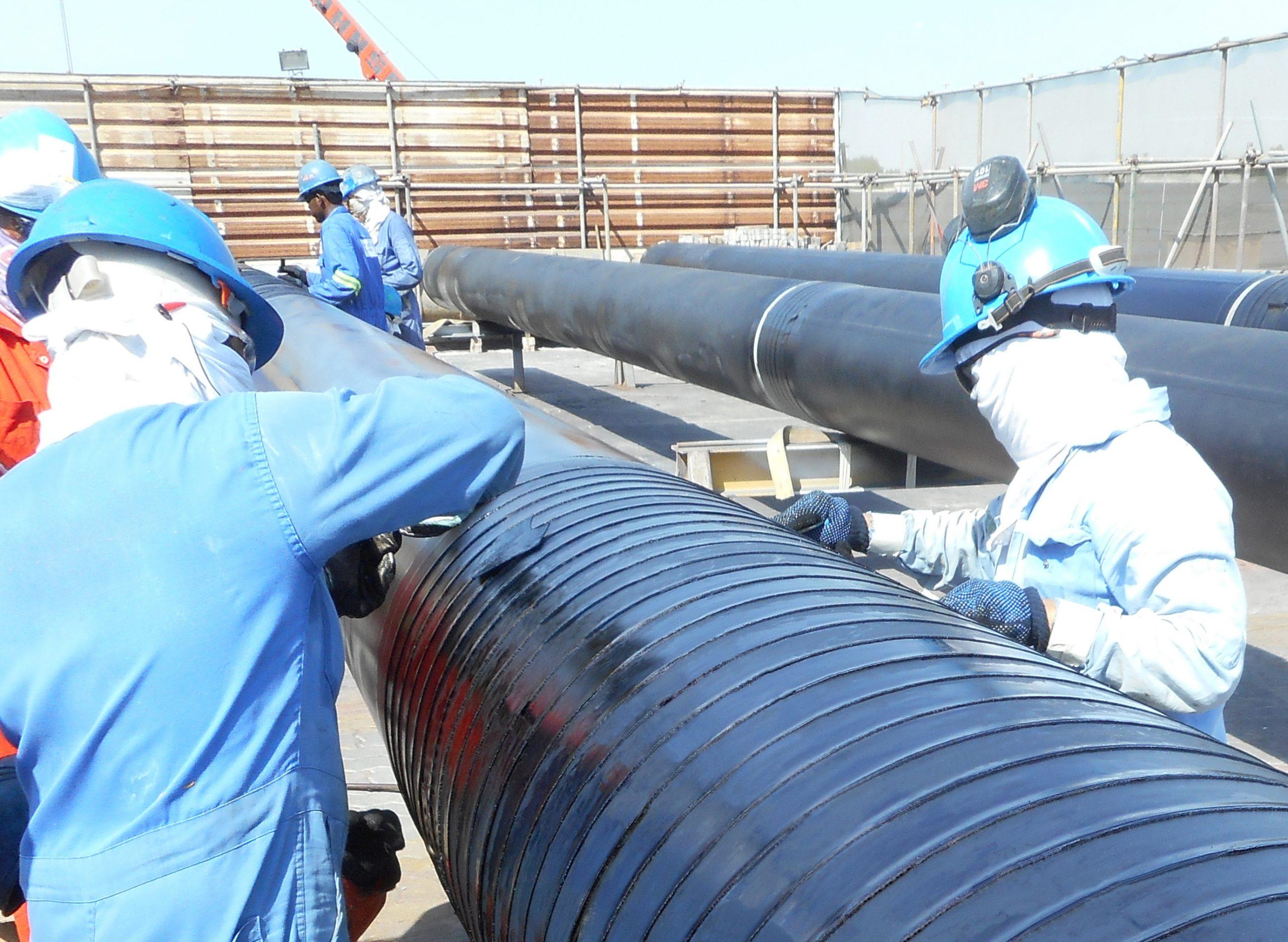 Densopol Tape applied to pipeline