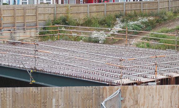 Construction of the bridge.