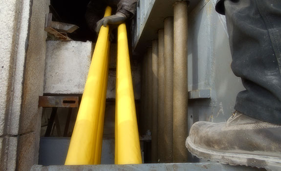 Macalloy bars protected with Denso™ Tape & Denso SA PVC Tape™