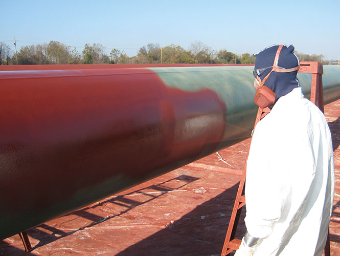Protal ARO applied to a steel pipe section.jpg