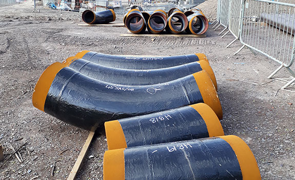 Pipeline bends protected with Denso Protal™ in Hele Park, Devon
