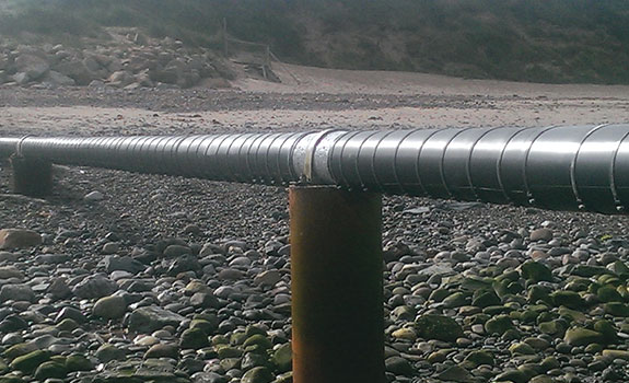 The Jurby outfall pipe