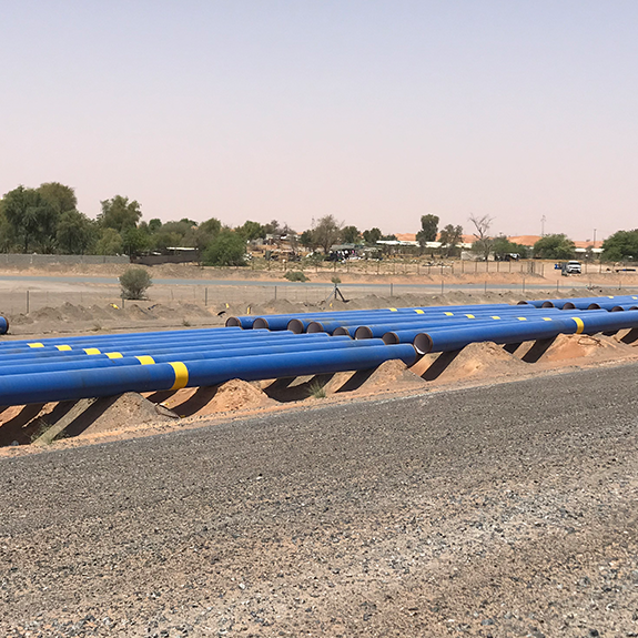 Pipeline protected with the Densyl Tape system