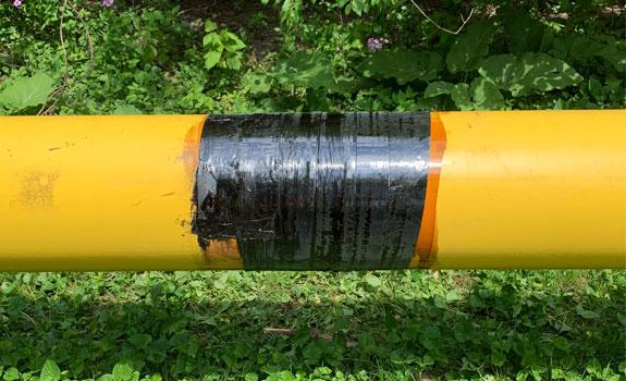steel-gas-main-with-bituminous-coating